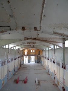 Gutted interior of Sant Manuel Pavilion