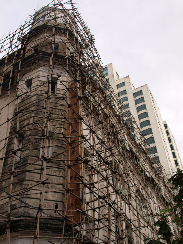 Bamboo scaffolding in Yangon, Myanmar | Vertical Access LLC Blog