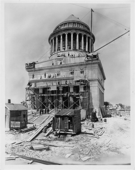Grant's Tomb was constructed between 1891 and 1897. Photo source: xxxx