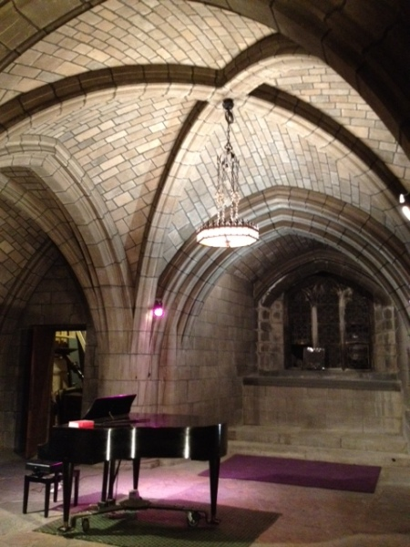 Guastavino tile vaults in the crypt chapel of the Church of the Intercession, designed by Bertram Goodhue, 1915