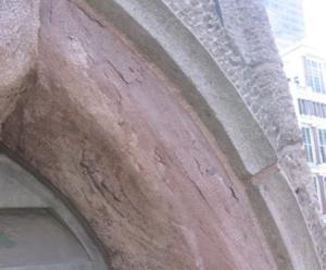 Delaminated sandstone