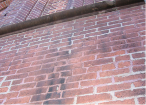 atmospheric soiling on brick