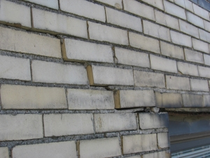 Horizontal and vertical displacement in brick