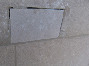 Failed dutchman repair in limestone