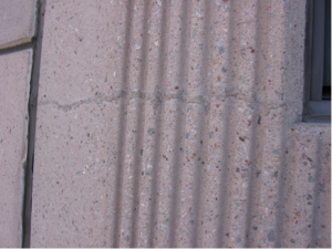 Sound crack repair in a precast concrete panel