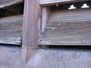 Weathered wood louvers
